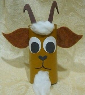 toilet paper roll goat craft