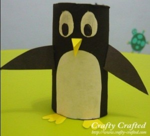 toilet paper roll penguin craft