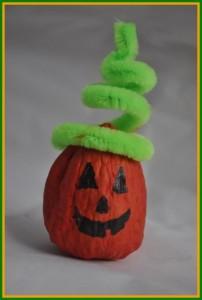walnut pumpkin craft