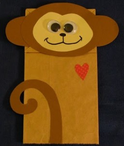 Monkey Paper Bag Puppet
