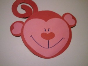 Valentine's Craft Heart Monkey