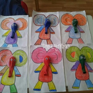 balloon elephant craft idea for kids