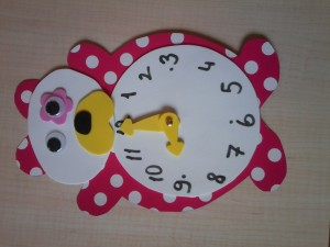 bear clock craft idea (1)
