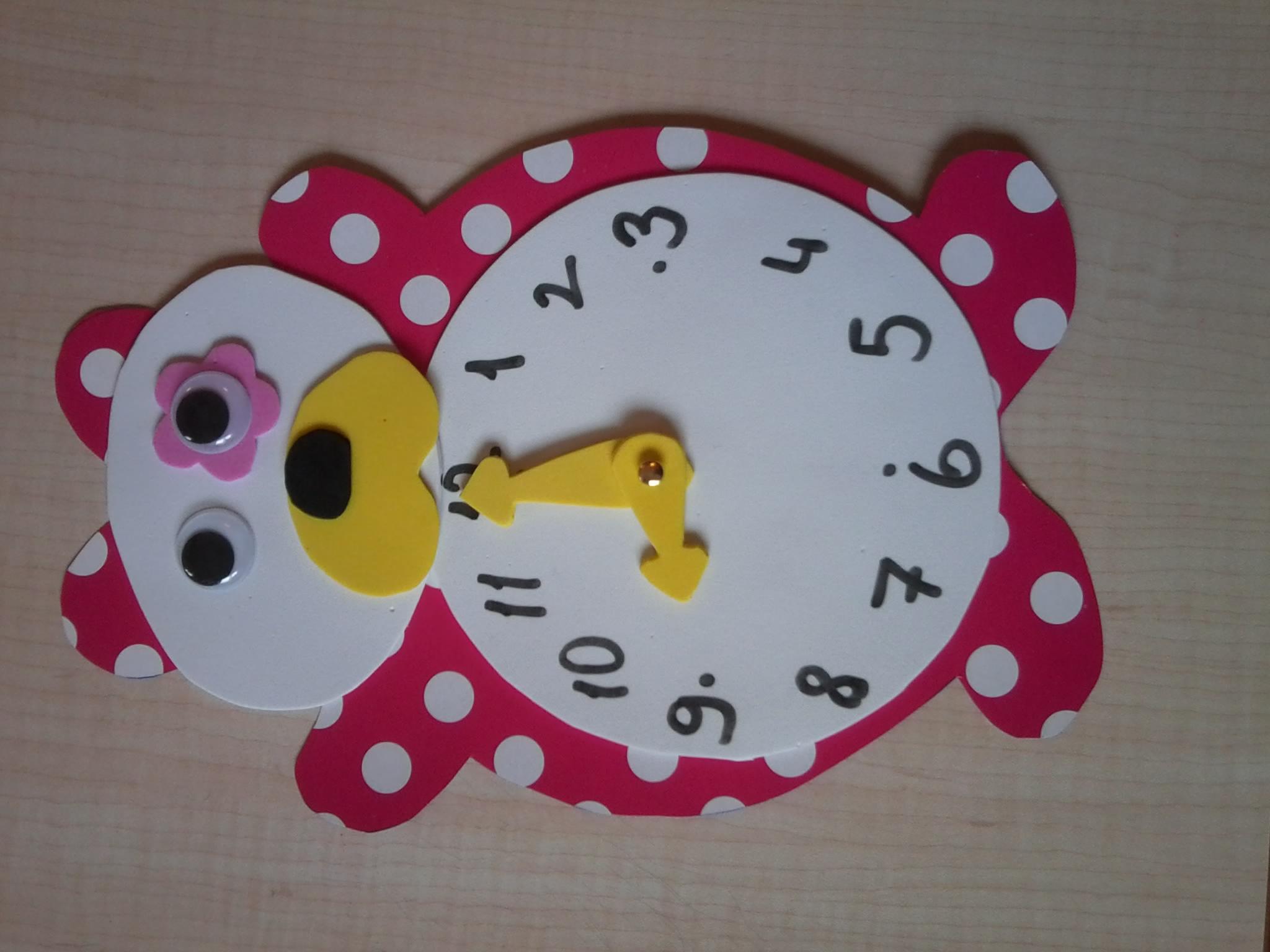 bear clock craft idea (1)