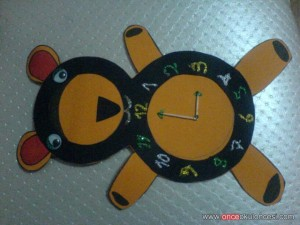 bear clock craft idea (3)