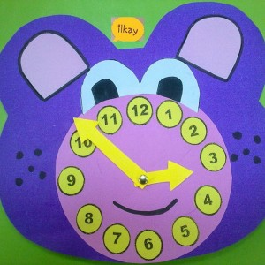 bear clock craft idea (4)
