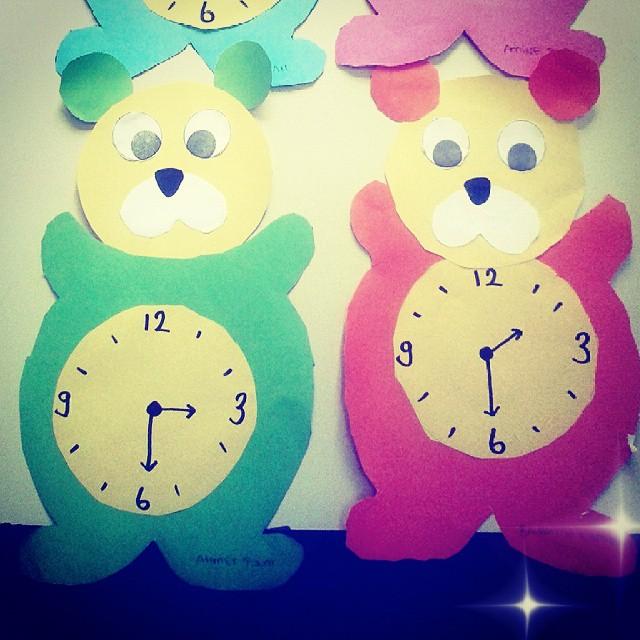 bear clock craft idea (5)