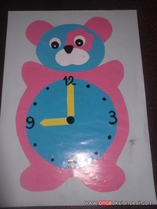 bear clock craft idea (6)