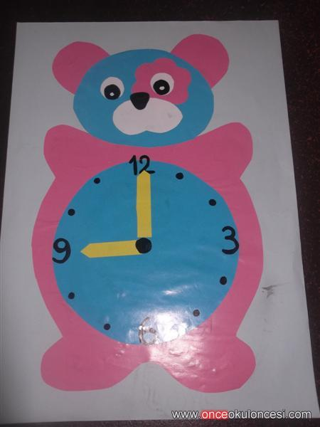 bear clock craft idea (6)