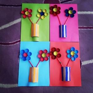 bottle cap flowers