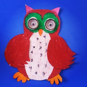 bottle cap owl craft