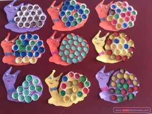 bottle cap snail craft idea for kids (2)