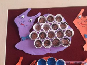 bottle cap snail craft idea for kids (3)