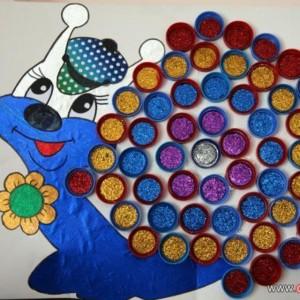 bottle snail craft