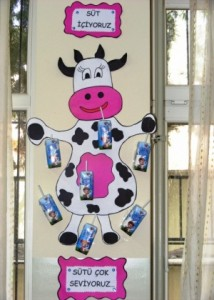 box cow bulletin board craft