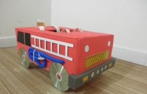 box fire truck craft