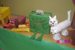 box frog craft idea