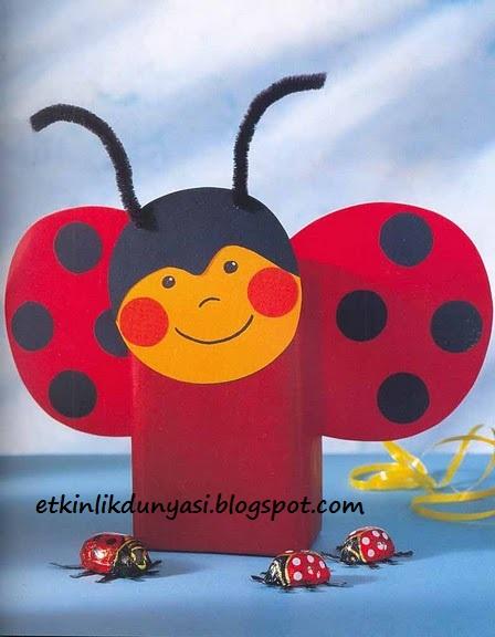 box ladybug craft idea