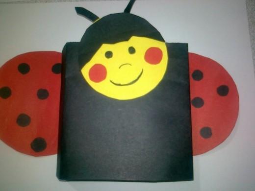 box ladybug craft
