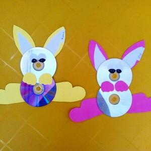 cd bunny craft