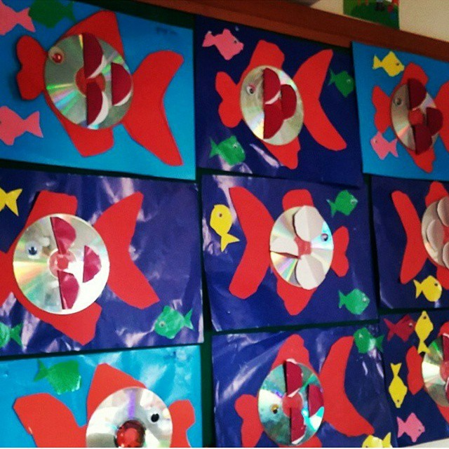 cd fish craft idea for kids