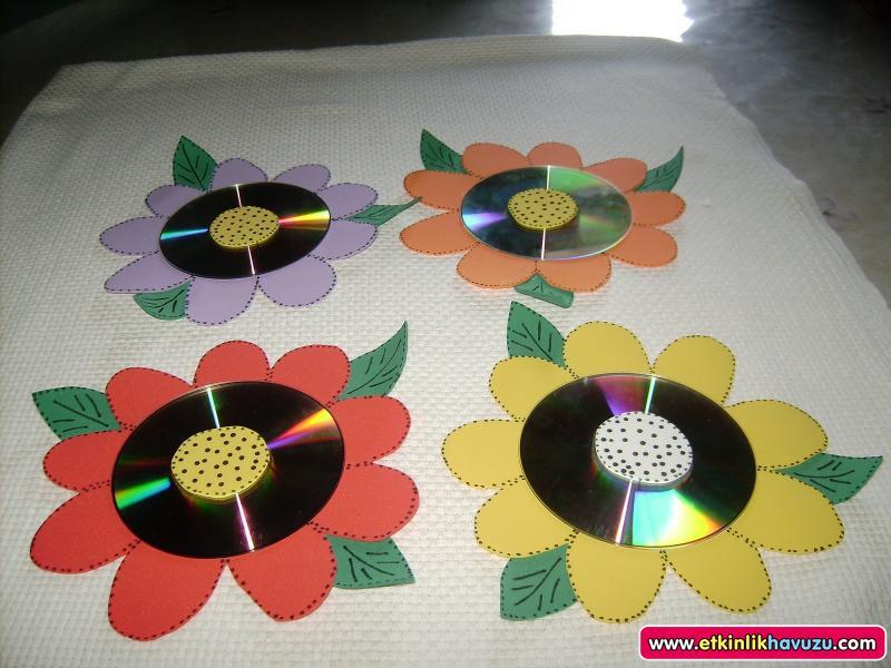 cd flower craft