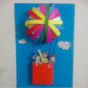 cd hot air balloon craft