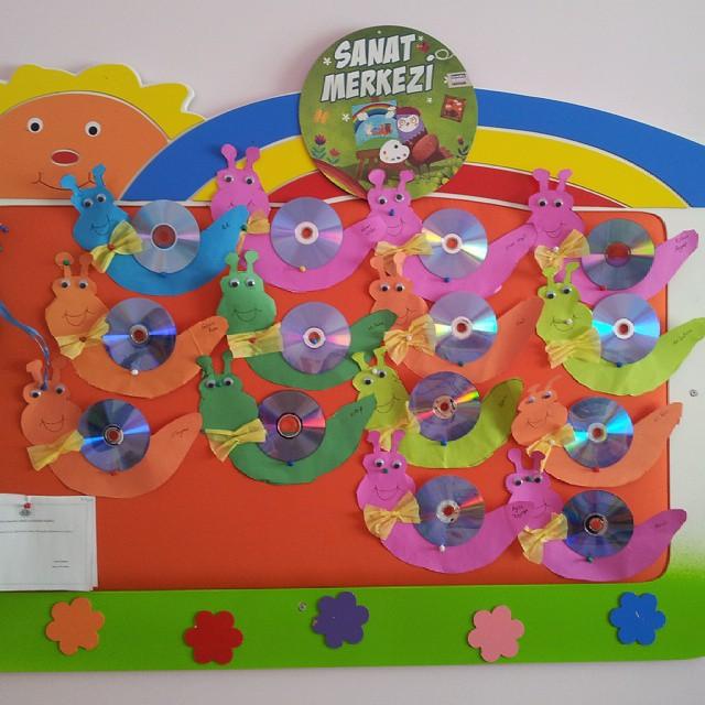 cd snail craft idea for kids (2)