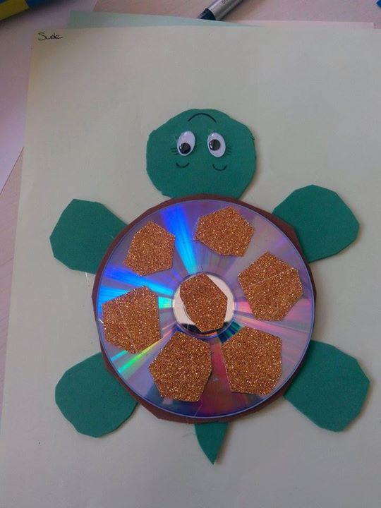 cd turtle craft