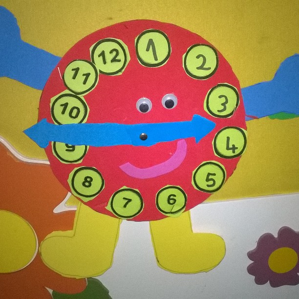 clock craft idea for kids (2)