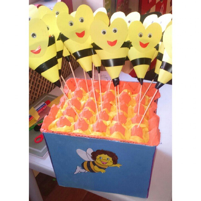 cone shaped bee craft