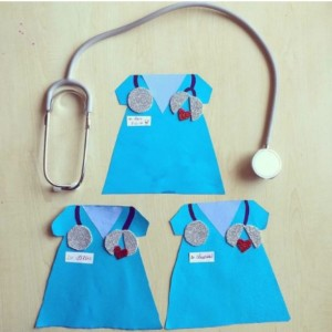 Community helpers craft idea for kids crafts and for Doctor bag craft template