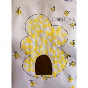 fingerprint bee craft