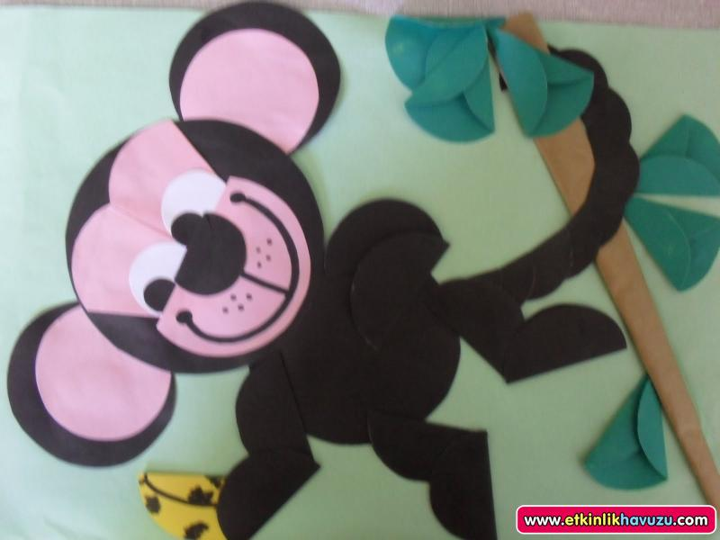 free monkey craft idea for kids (1)