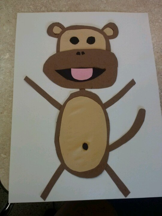 free monkey craft idea for kids (3)