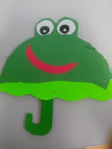 frog umbrella craft