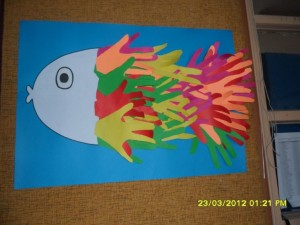 handprint fish craft idea