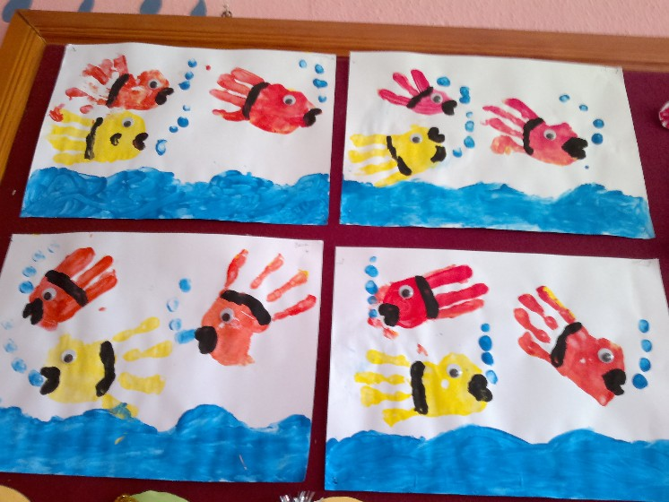 handprint fish craft