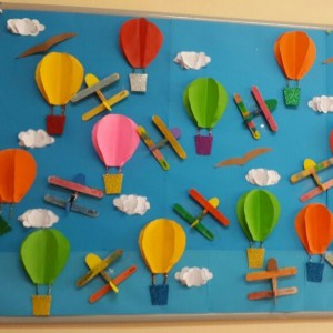 hot air balloon bulletin board (1)