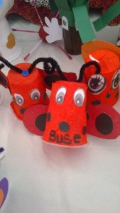 paper cup lady bug craft