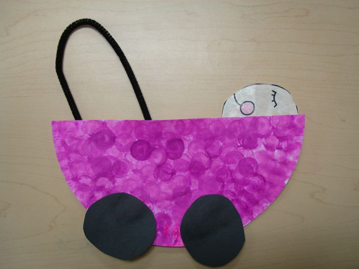 paper plate baby carriage craft
