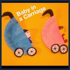 paper plate baby carriage