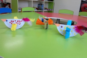 paper plate bird craft