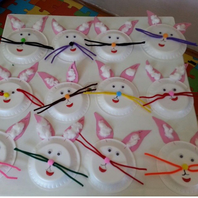paper plate bunny craft idea for kids
