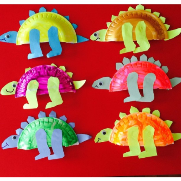 paper plate dinosaur craft (1)