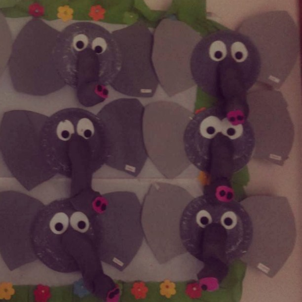 paper plate elephant craft idea