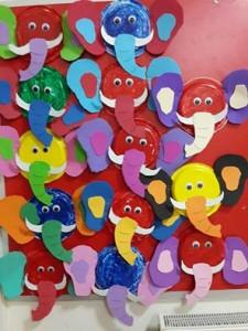paper plate elephant craft idea