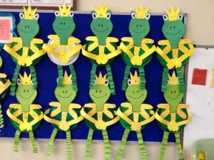 paper plate frog craft idea