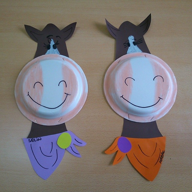 paper plate horse craft idea