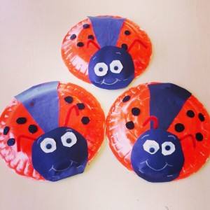 paper plate lady bug craft